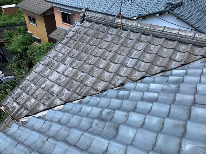 セメント瓦からガルバリウム鋼板に葺き替え工事