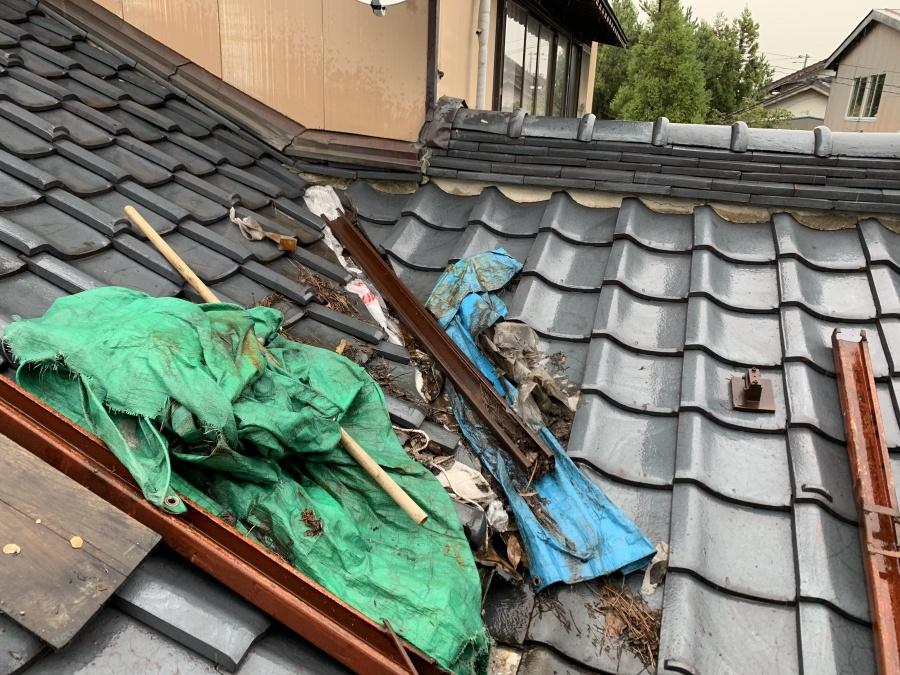 瓦屋根雨漏れ修理