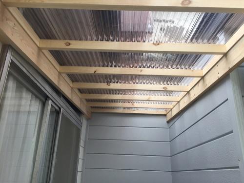 屋根造作 ユピロン小波板