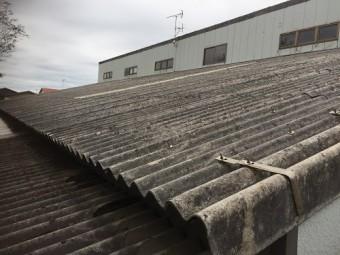 波型スレート屋根 アスベスト