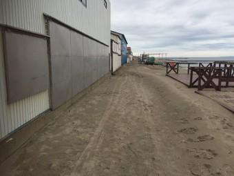 海の家 車両侵入禁止 砂地