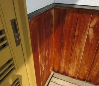 外壁 腰板張り 入隅 塗装