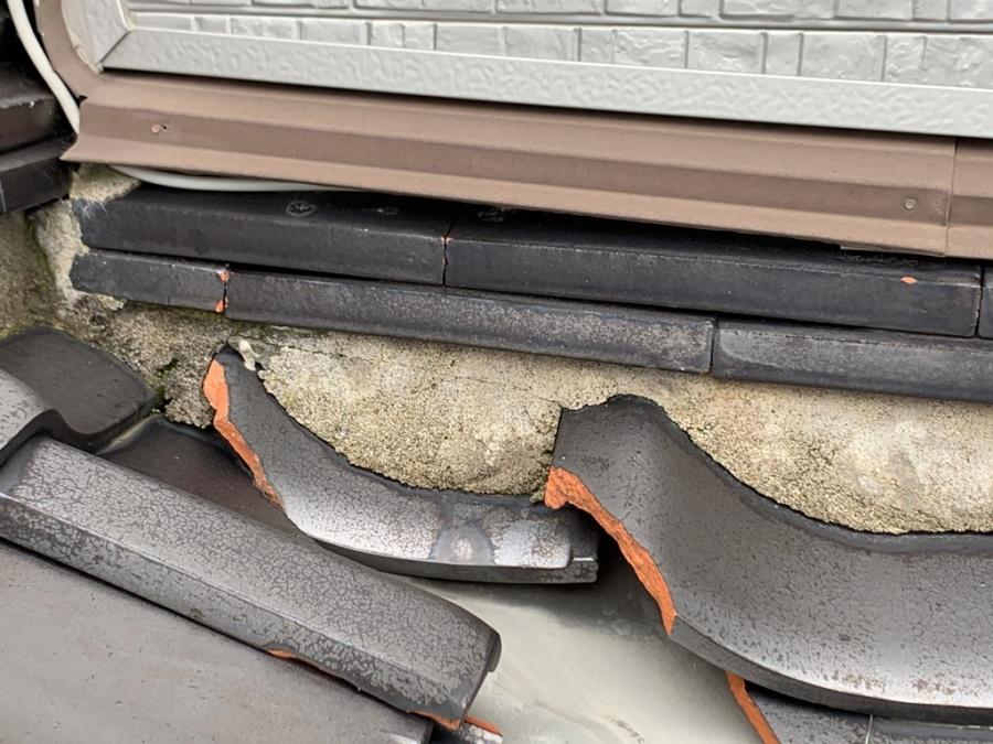 築30年の瓦屋根雨漏り