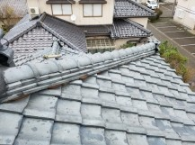 新潟市棟冠瓦の飛散対策