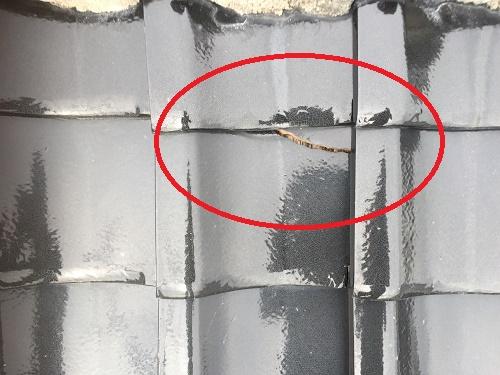 瓦割れ 雨漏れ 雨漏り 鉄釘