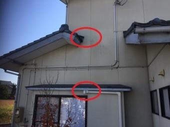 漏水 外部検査 外部調査 エアコン配管 外壁