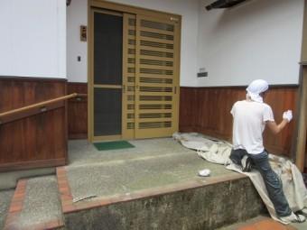 腰壁塗装工事 塗装