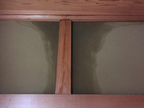 1階和室 柱 塗り壁 雨漏れ
