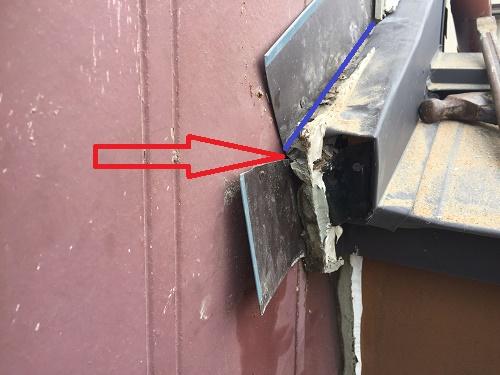 外壁解体 雨水侵入 染み 発見