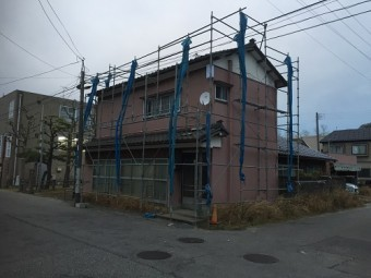 仮設足場 落下防止 屋根作業用