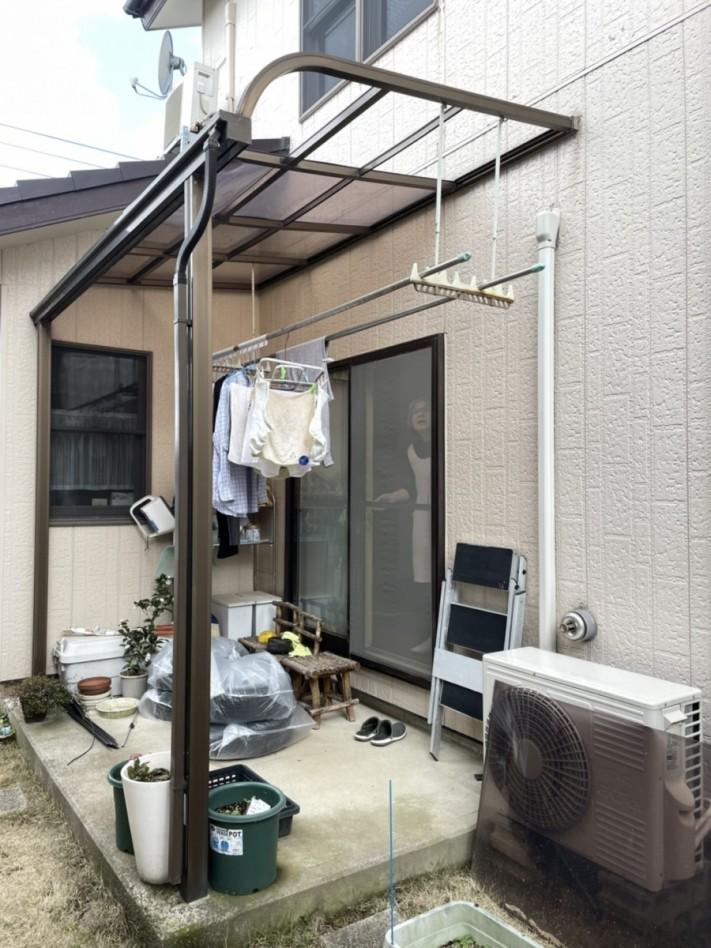 ポリカ屋根張替え工事