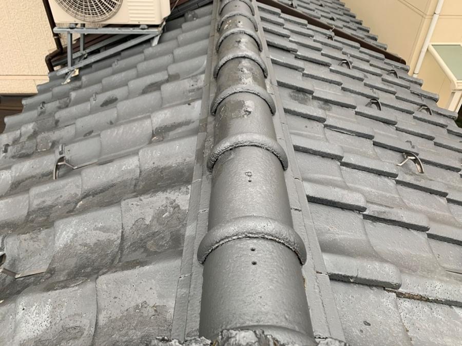 屋根葺き替え工事の現地調査