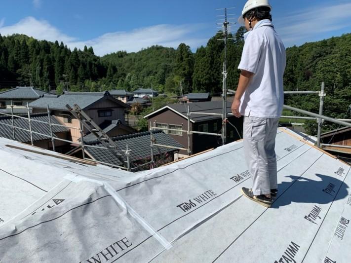 瑕疵保険を使用し防水検査