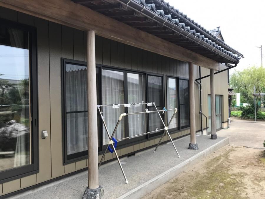 土縁柱桁塗装工事ウッドロングエコ