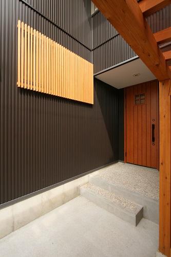 木格子 塗装 新潟市西区