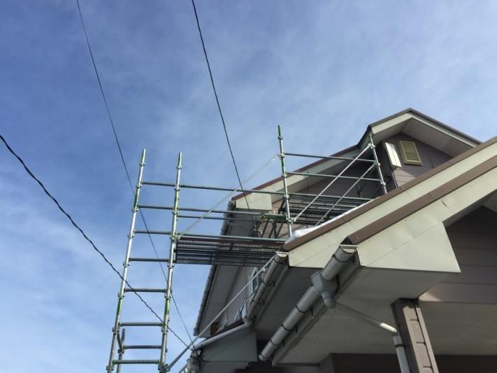 板金屋根ケラバ部修繕工事