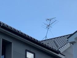 TVアンテナ支持線張り工事