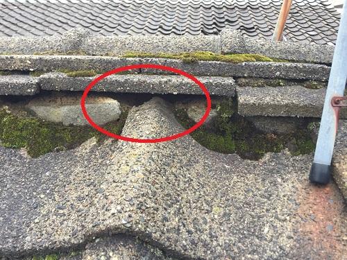 棟 セメント瓦 土 雨漏り