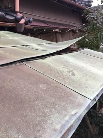 銅板屋根 剥がれ 強風 飛ぶ
