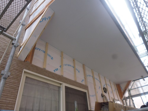 外壁張替工事 外壁張張り