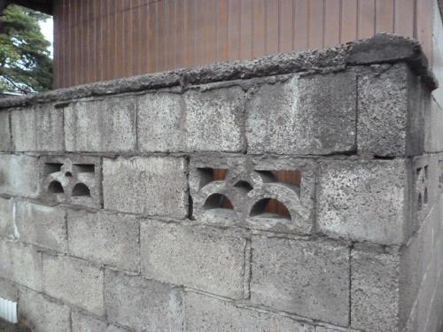 ブロック塀笠木交換 現調