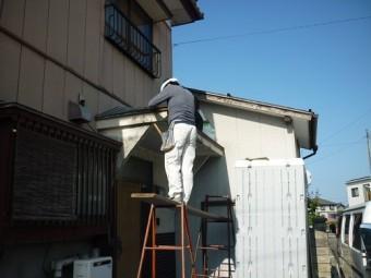 玄関屋根解体 大型リフォーム