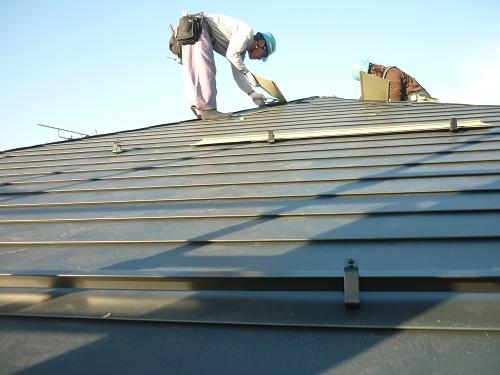 板金屋根 横葺施工