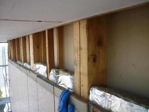 外壁解体 断熱材不足