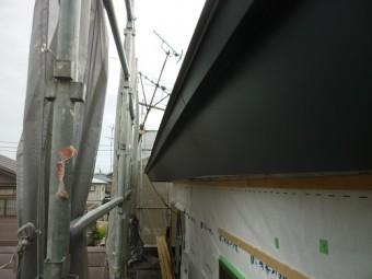 大型リフォーム 破風板板金巻