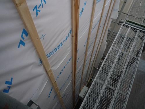 外壁張替工事 下地造り