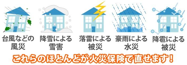 火災保険の適用範囲